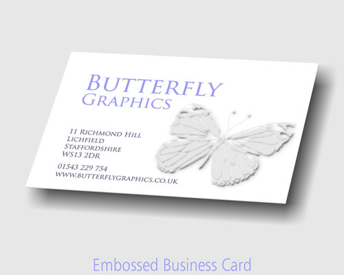 Business cards at the printing house reheart Gallery